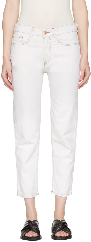 Ymc Ecru Slim Jeans