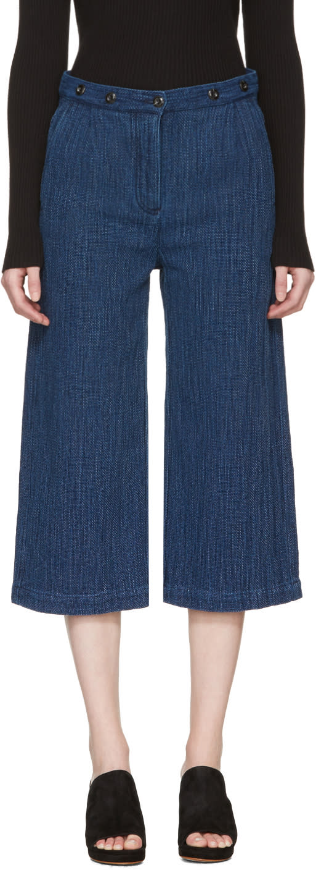 Ymc Indigo Kyoto Trousers