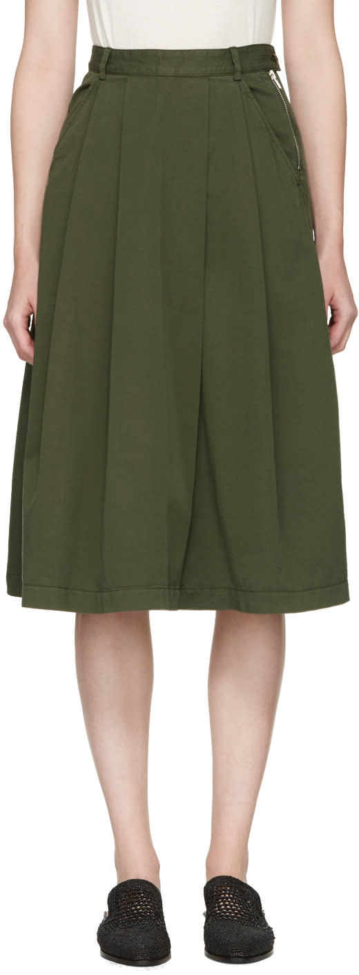 Ymc Green Sheila Skirt