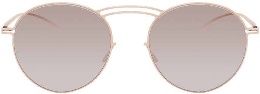 Maison Margiela Beige Mykita Edition Mmesse011 Sunglasses