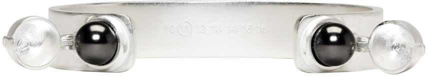 Maison Margiela Silver Pearl Bracelet
