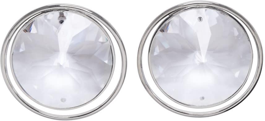 Maison Margiela Silver Crystal Earrings