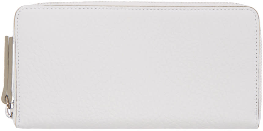 Maison Margiela White Grained Leather Wallet