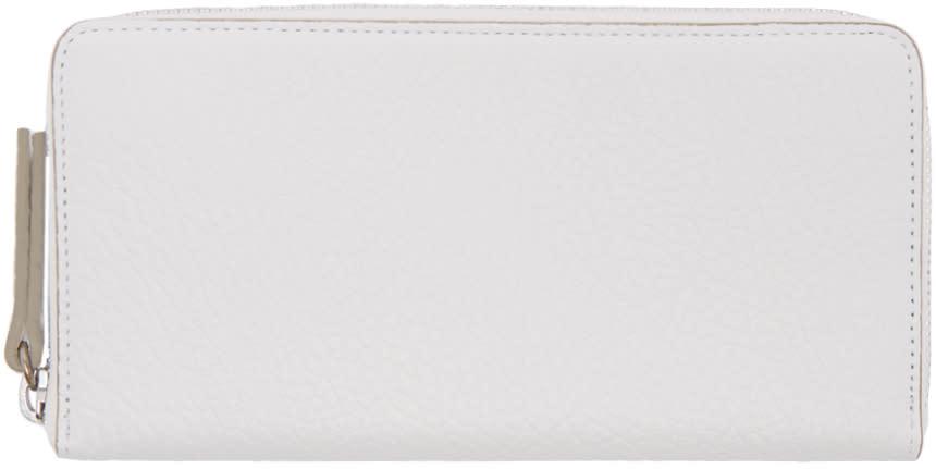 Maison Margiela White Grained Leather Wallet
