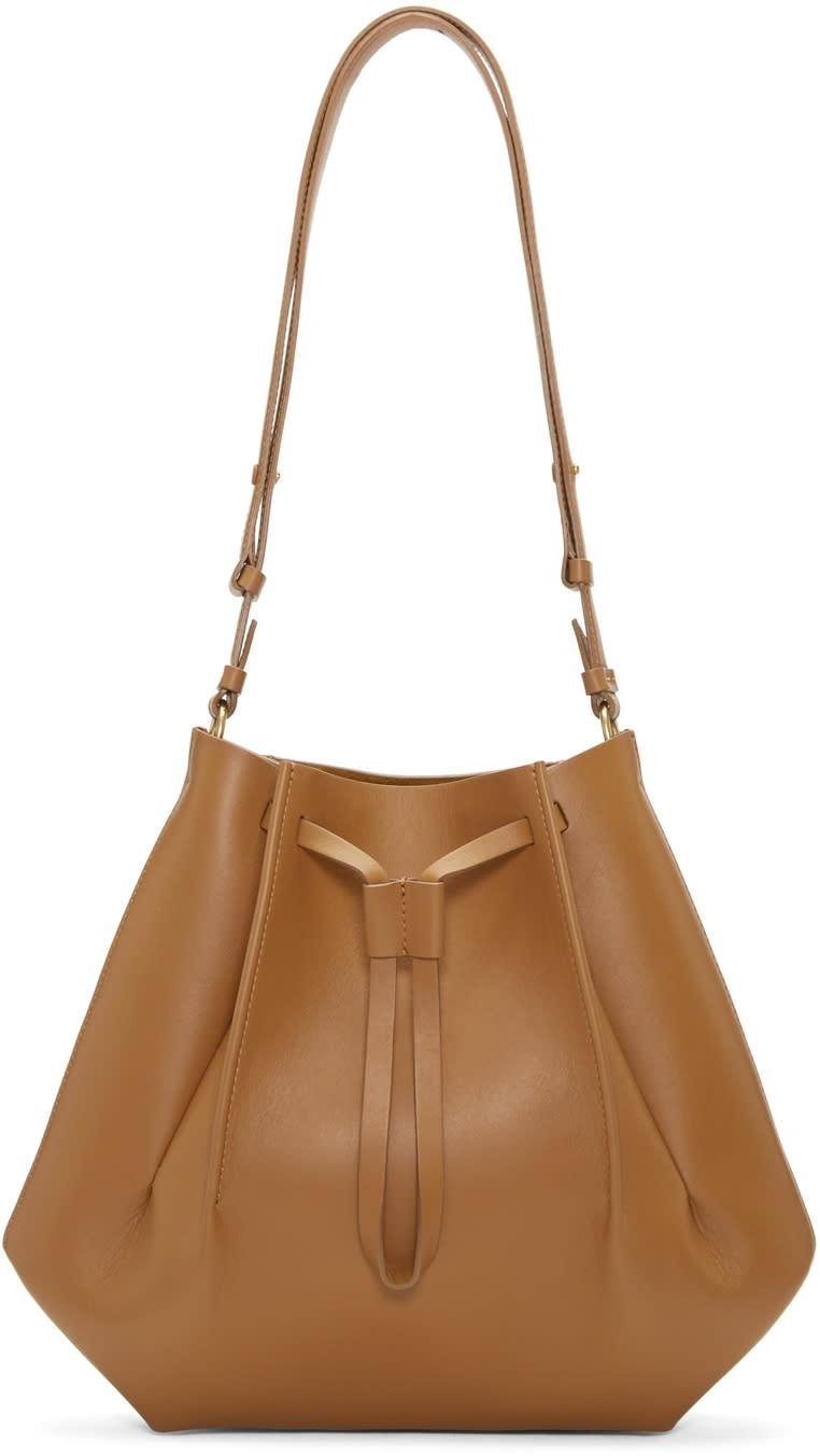 Maison Margiela Tan Leather Bucket Bag