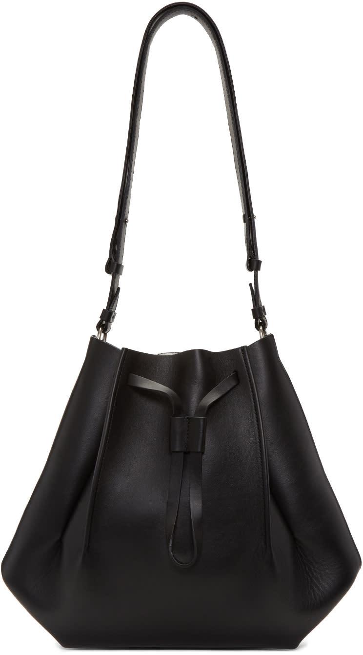 Maison Margiela Black Leather Bucket Bag