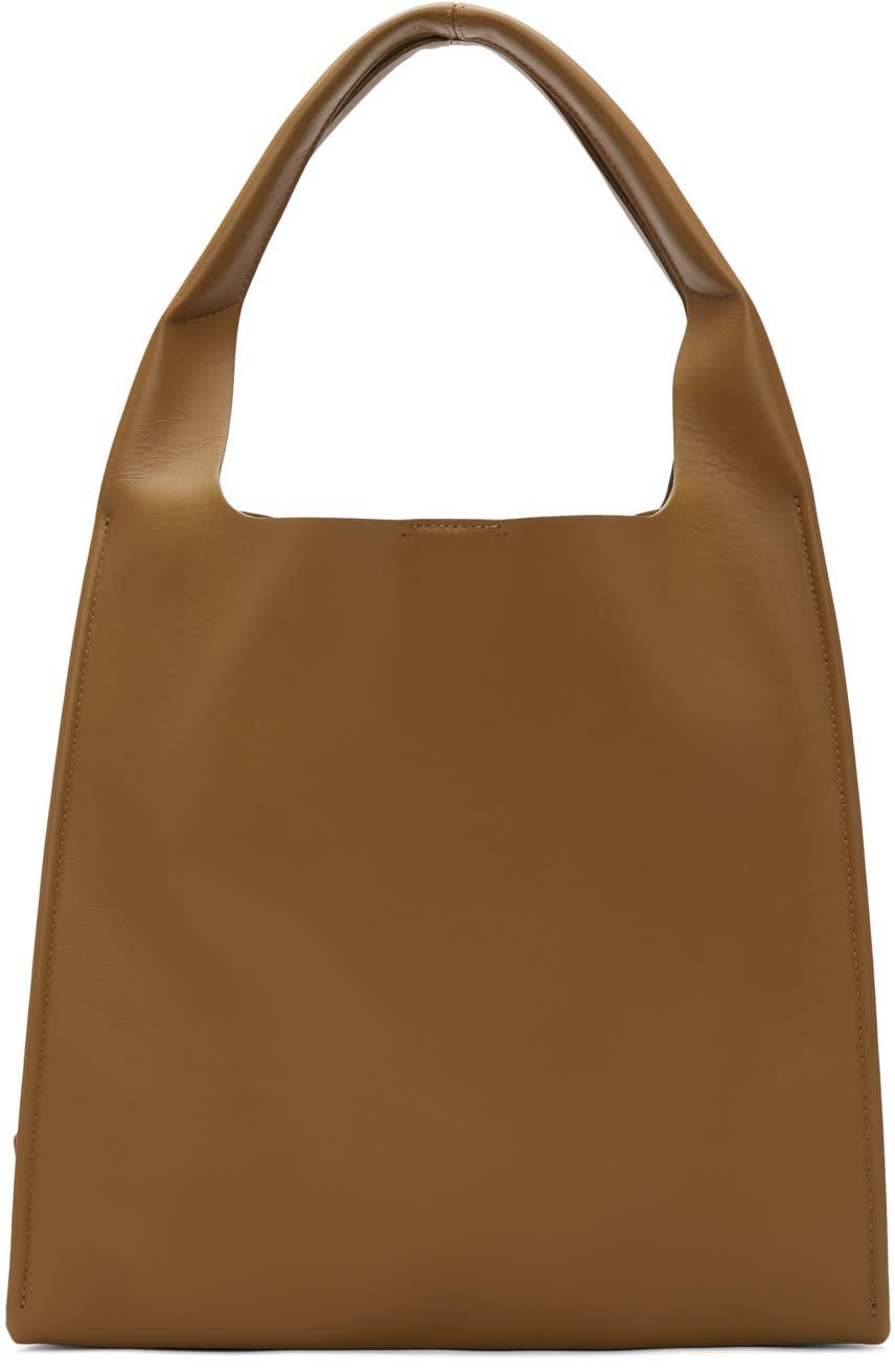 Maison Margiela Brown Leather Tote Bag