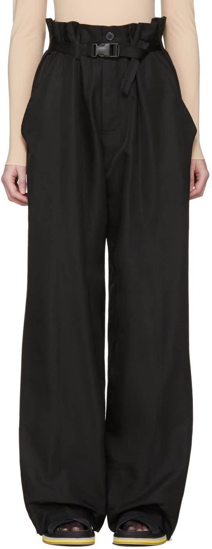 Maison Margiela Black Parachute Trousers