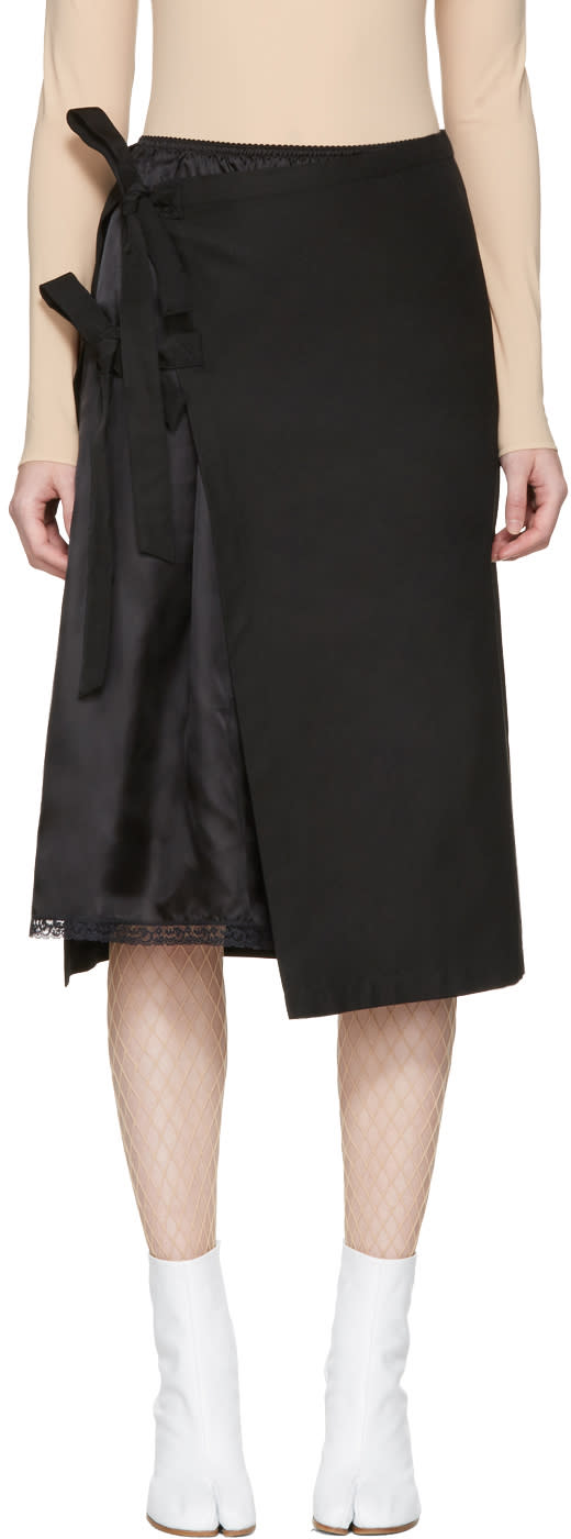 Maison Margiela Black Double Layer Skirt