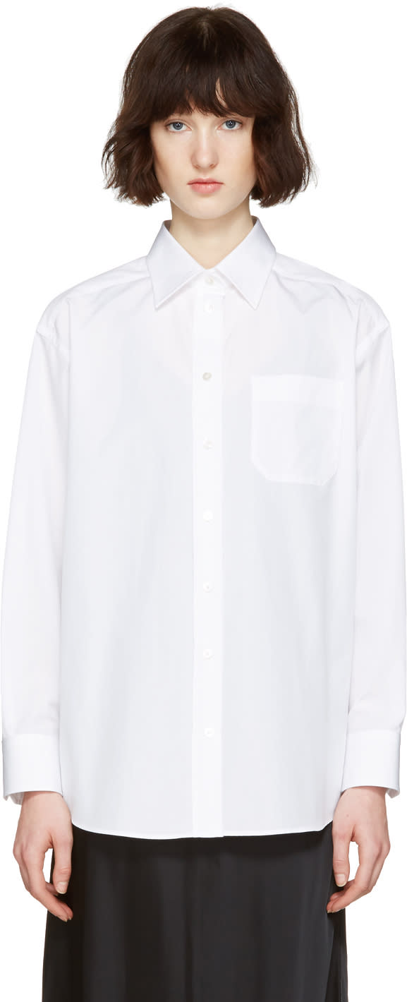 Maison Margiela White Poplin Oversize Pure Shirt