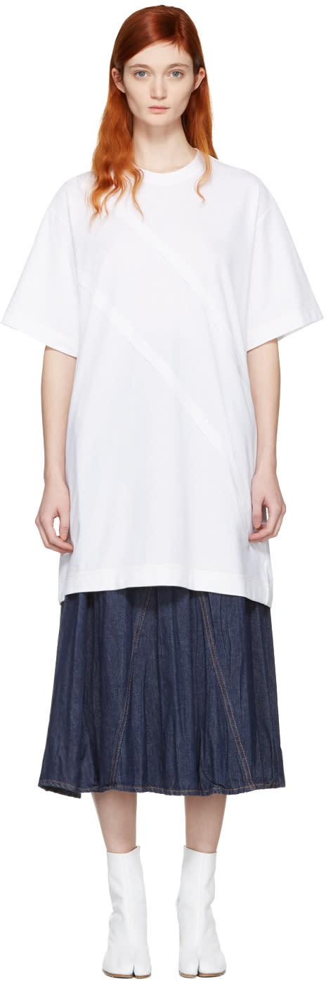 Maison Margiela White Panelled T-shirt