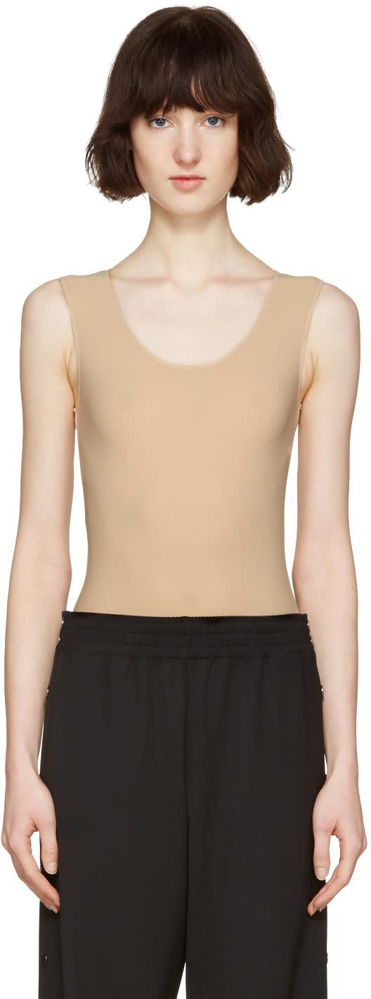 Maison Margiela Beige Sleeveless Bodysuit