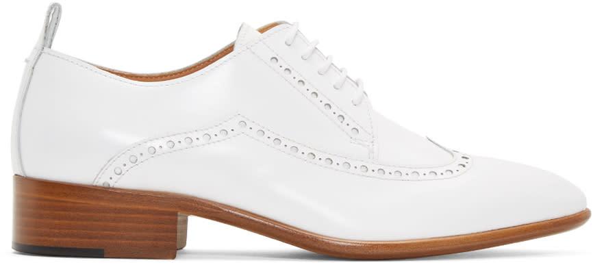 Maison Margiela White Leather Brogues