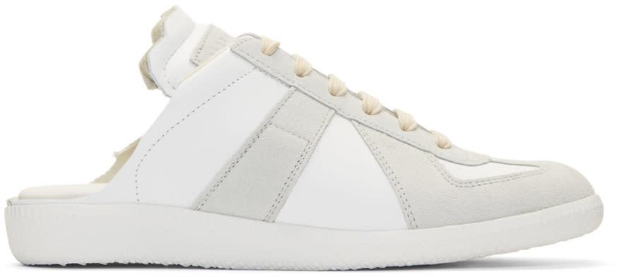 Maison Margiela White Deconstructed Slide Sneakers