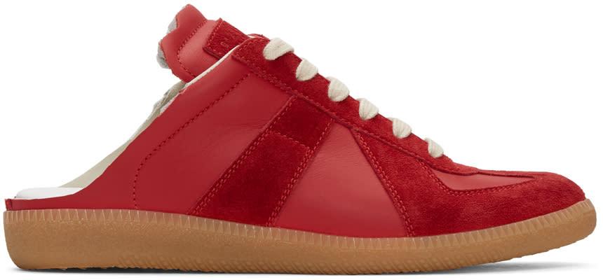 Maison Margiela Red Open-back Replica Sneakers