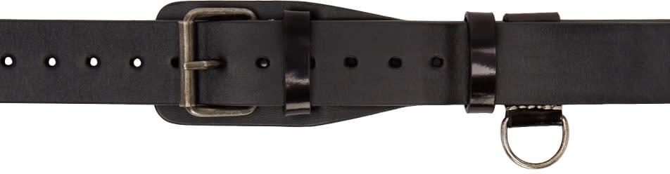 Maison Margiela Black Contrast Stitch Belt