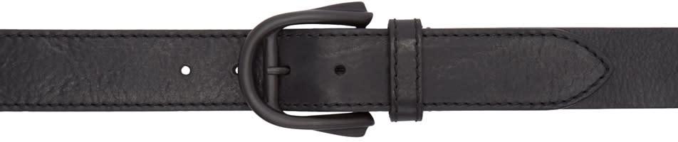 Maison Margiela Black Leather Belt