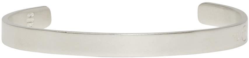 Maison Margiela Silver Logo Cuff