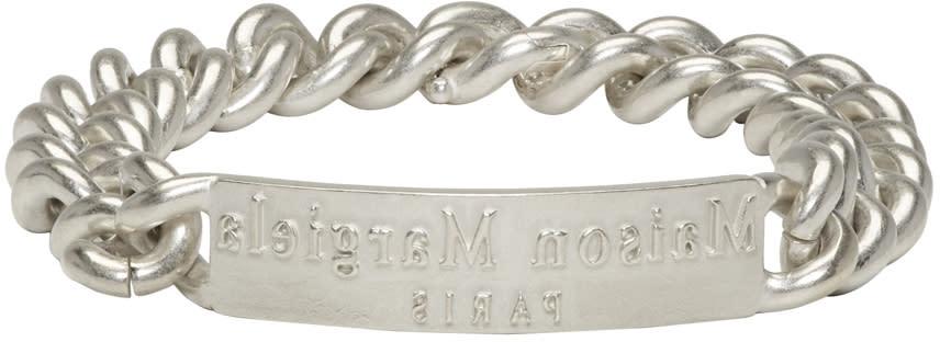 Maison Margiela Silver Logo Id Bracelet