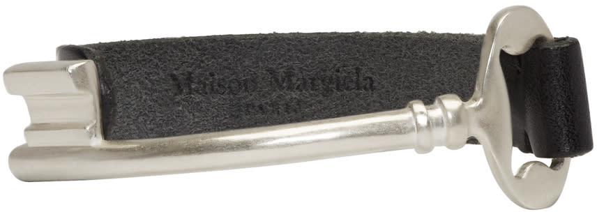 Maison Margiela Silver and Black Key Bracelet