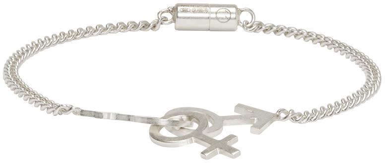 Maison Margiela Silver Gender Sign Bracelet