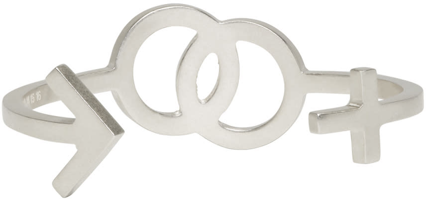 Maison Margiela Silver Gender Sign Cuff