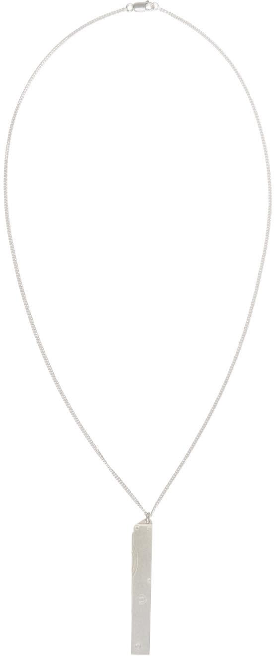 Maison Margiela Silver Nail File Necklace