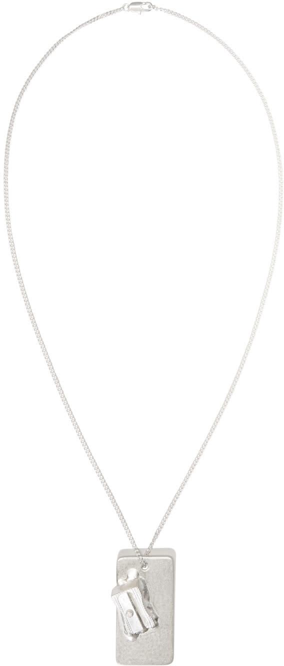 Maison Margiela Silver Pencil Sharpener Pendant Necklace