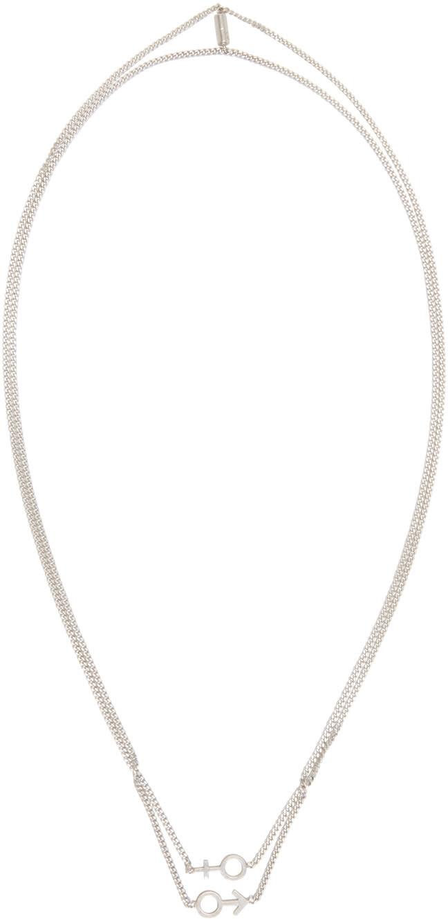 Maison Margiela Silver Gender Sign Necklace