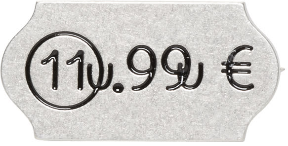 Maison Margiela Silver Euro Pin
