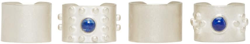 Maison Margiela Silver Stone Ring Set