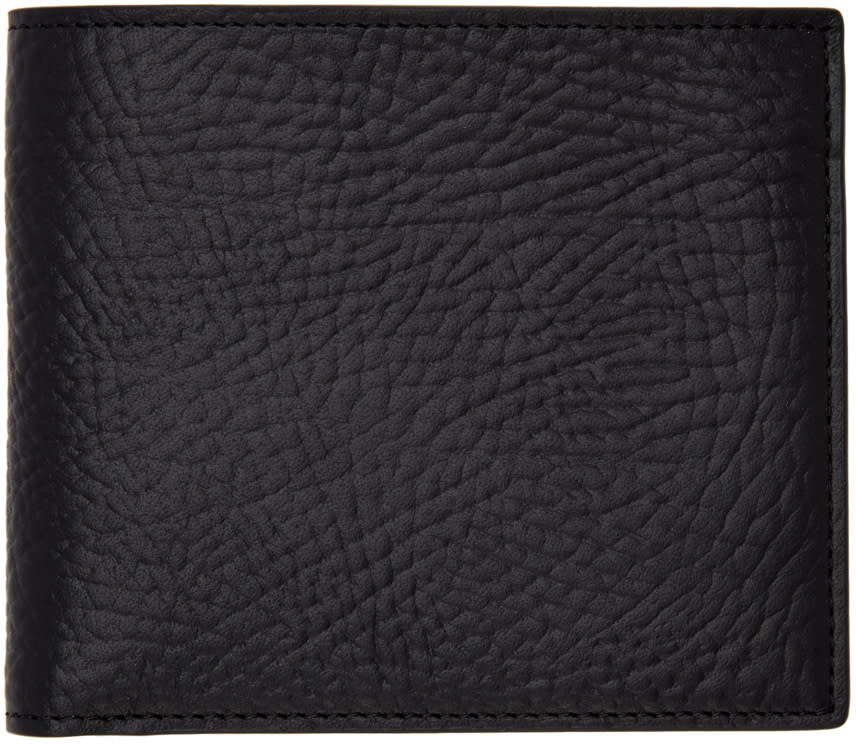 Maison Margiela Black Grained Leather Wallet