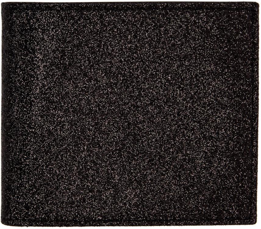 Maison Margiela Black Glitter Bifold Wallet