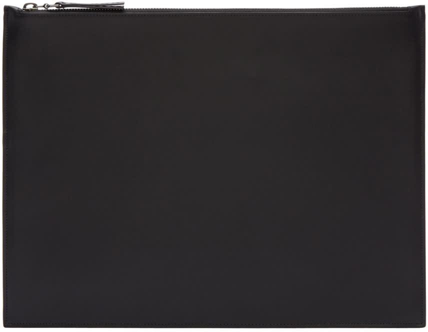 Maison Margiela Black Classic Leather Pouch