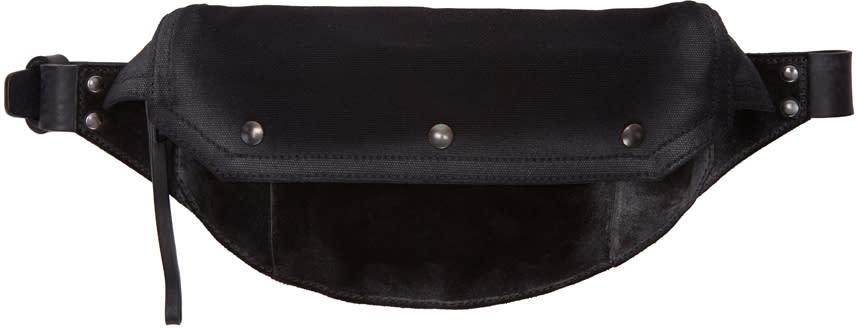 Maison Margiela Black Suede and Canvas Bum Bag