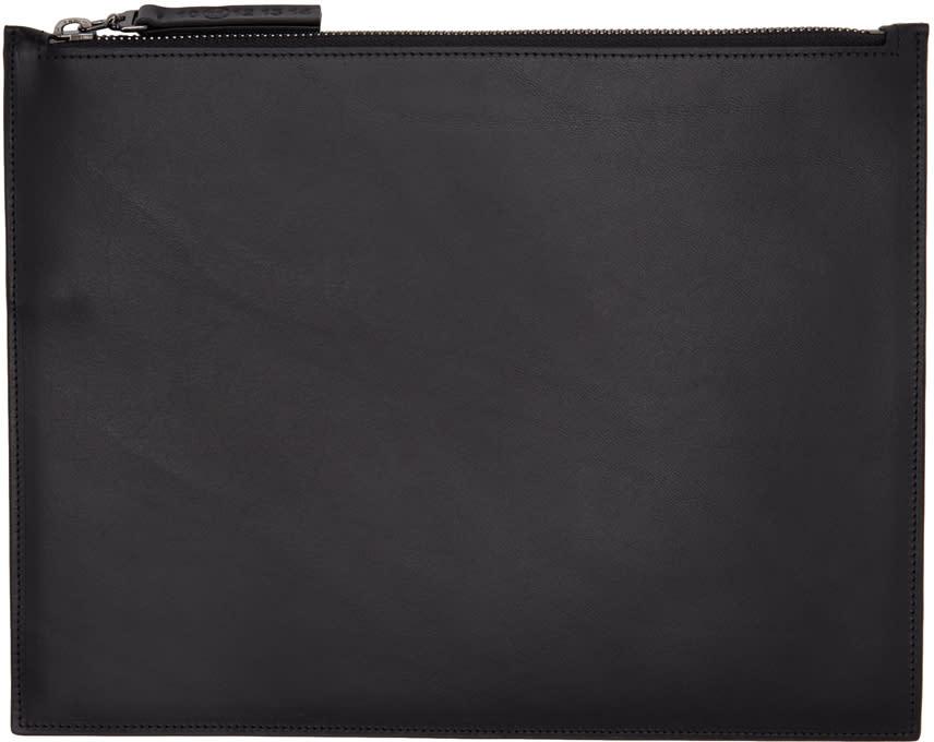 Maison Margiela Black Leather Document Holder