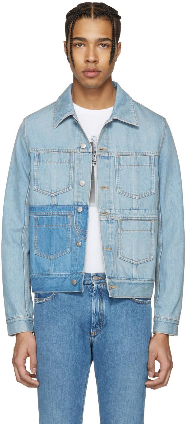 Maison Margiela Blue Double Denim Jacket