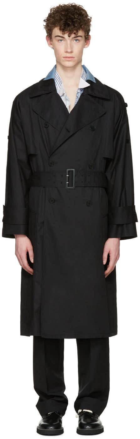 Maison Margiela Black Oversized Trench Coat