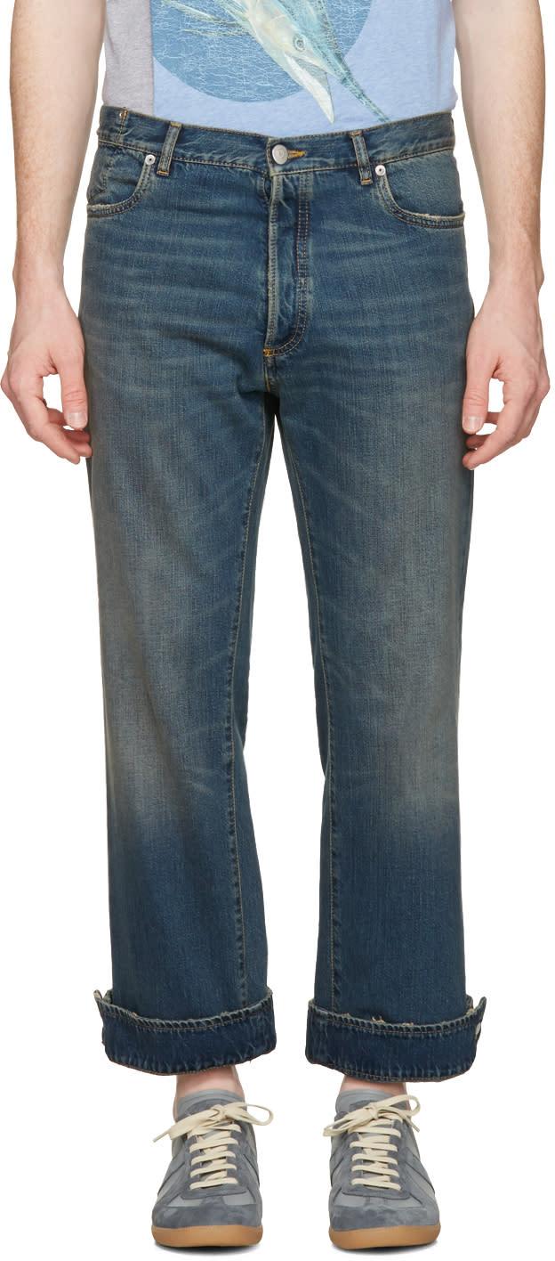 Maison Margiela Blue Cuffed Up Jeans