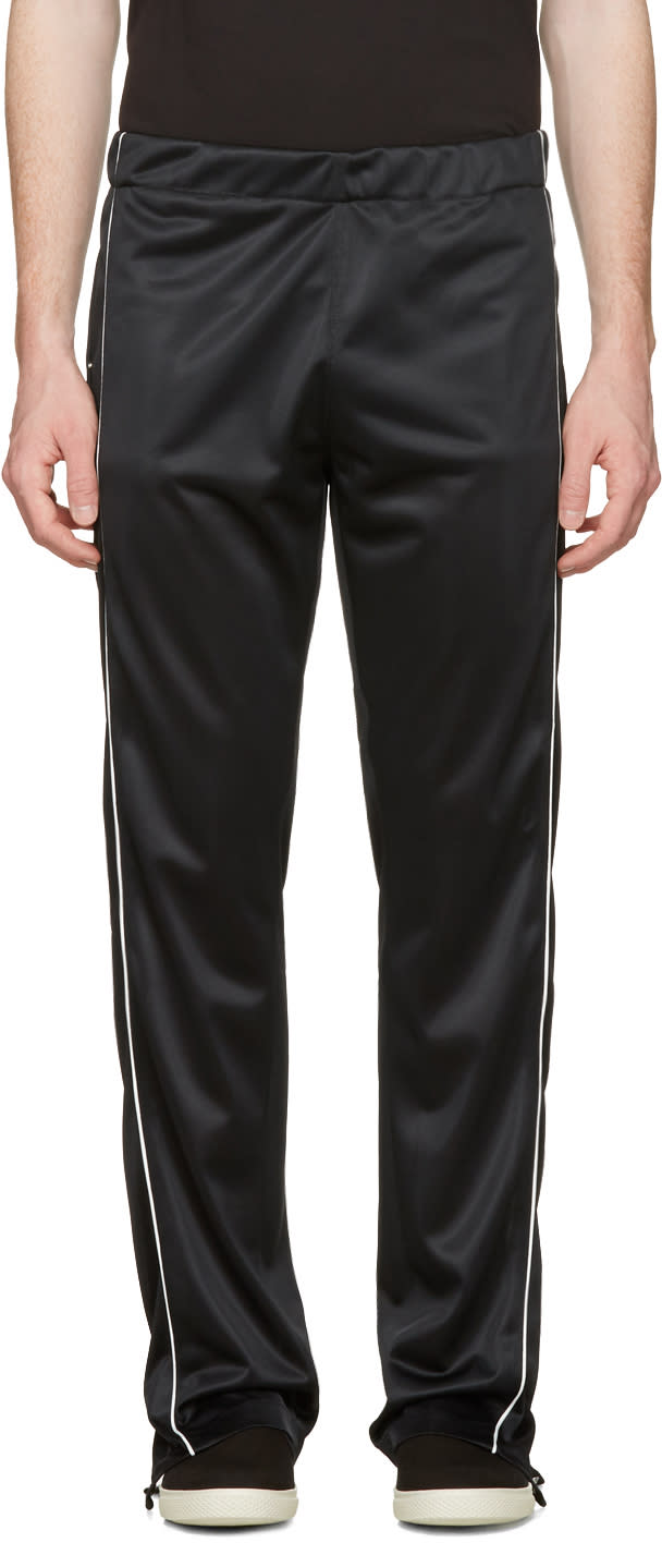 Maison Margiela Black Snap Track Pants