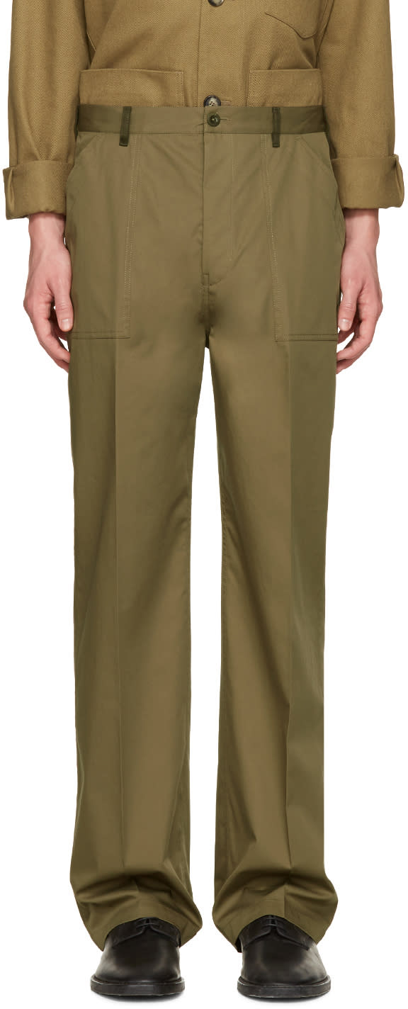 Maison Margiela Green Replica Fatigue Trousers