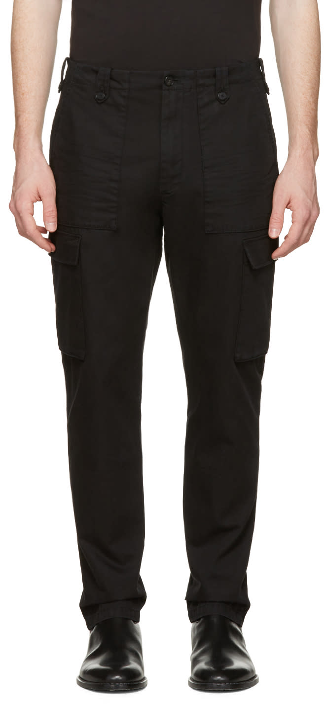 Maison Margiela Black Cargo Trousers