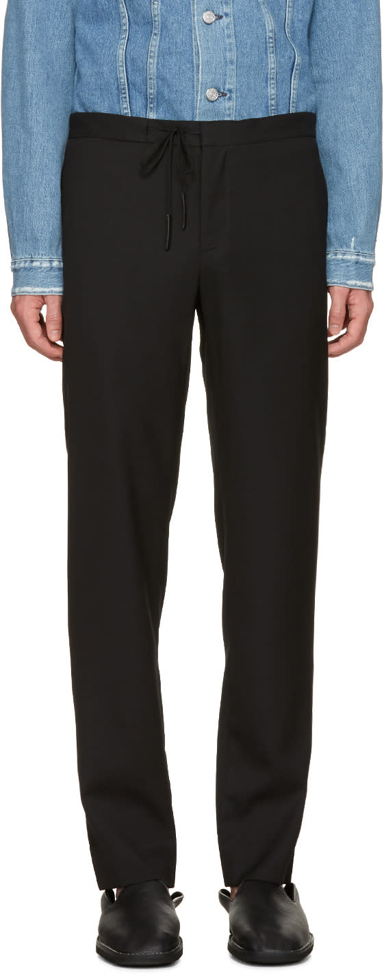 Maison Margiela Black Drawstring Trousers