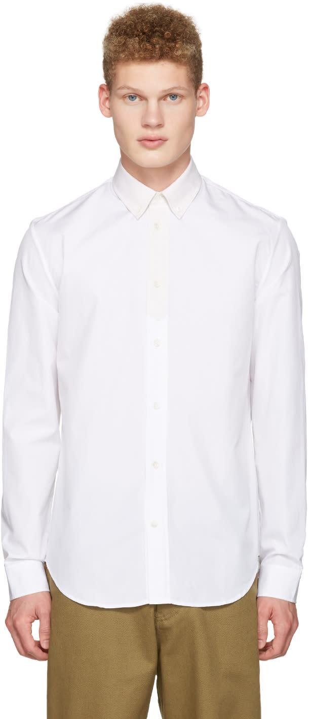 Maison Margiela White Contrast Collar Shirt