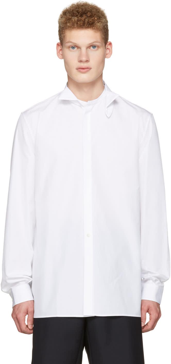 Maison Margiela White Detachable Collar Shirt