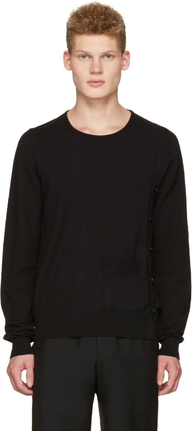 Maison Margiela Black Side Button Pullover