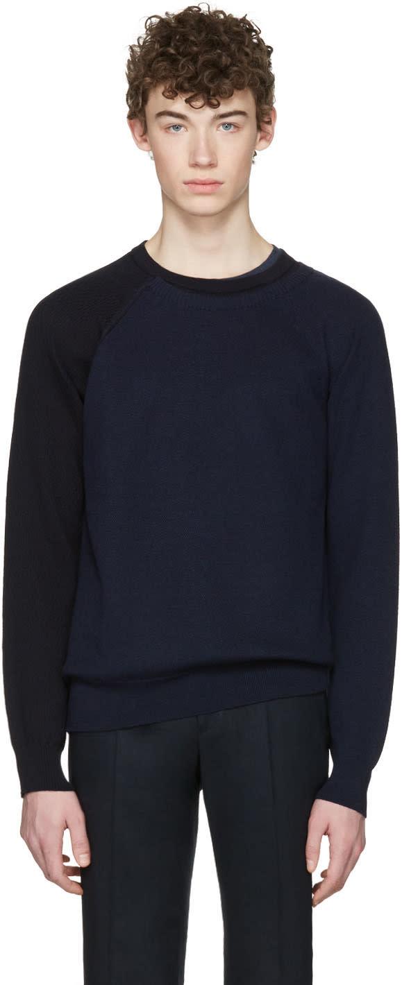 Maison Margiela Navy Sleeve Detail Sweater