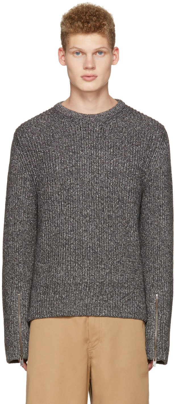 Maison Margiela Grey Ribbed Sweater