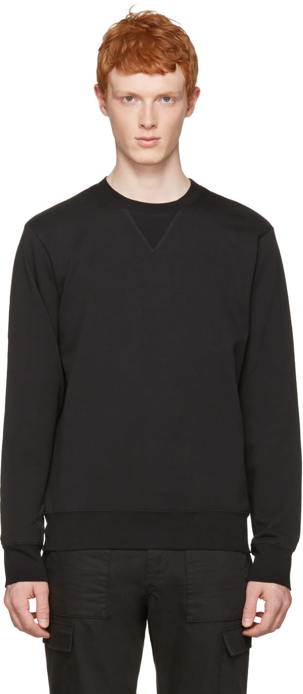 Maison Margiela Black Elbow Patch Pullover