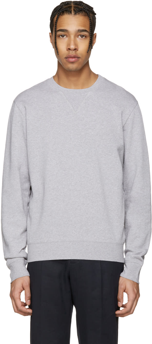 Maison Margiela Grey Elbow Patch Pullover